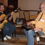 With Dobro legend Mike Auldridge - Dallas, Texas - March 2007