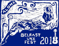 belfast uke festival logo a woman in blue