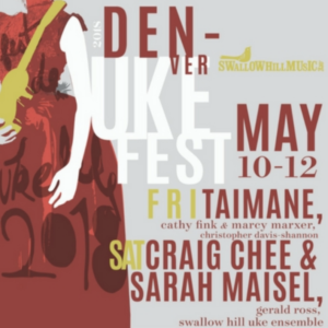 fancy denver uke fest poster with big names