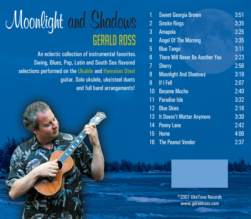 Moonlight And Shadows Gerald Ross Ukulele And Guitar