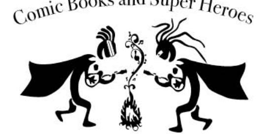 ukekopelli logo for 2018 theme - superheroes