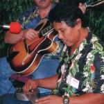 Famed Hawaiian steel guitarist Bobby Ingano, 2003.