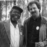 After conducting a blues guitar workshop with legendary blues artist Brownie McGhee. Mid 1980's.