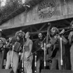 1987 - Wheatland Festival, Remus Michigan. (l-r) Gerald Ross, Frank Youngman, Claudia Schmidt, Tom Ball, Dave Ross, Paul Winder.