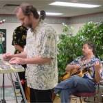 "John Ely, steel guitarist for ""Asleep At The Wheel"", Joliet 2002."