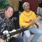 With Hawaiian ukulele virtuoso Kimo Hussey - Chicago, Illinois - June 2007