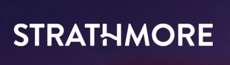 strathmore logo - a sans serif font with a wavy line for the H crossbar