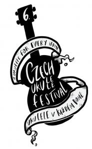 Czech Ukulele Festival logo - a hand drawn ukulele